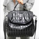 Cool Skull Leather Handba..