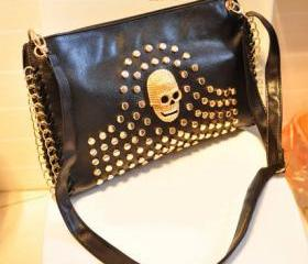 Unique Skull Rivet Shoulder Bag
