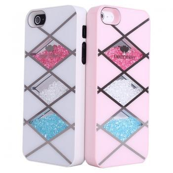 Cool  Pink Rhombus Hard Cover Case For Iphone 4/4s